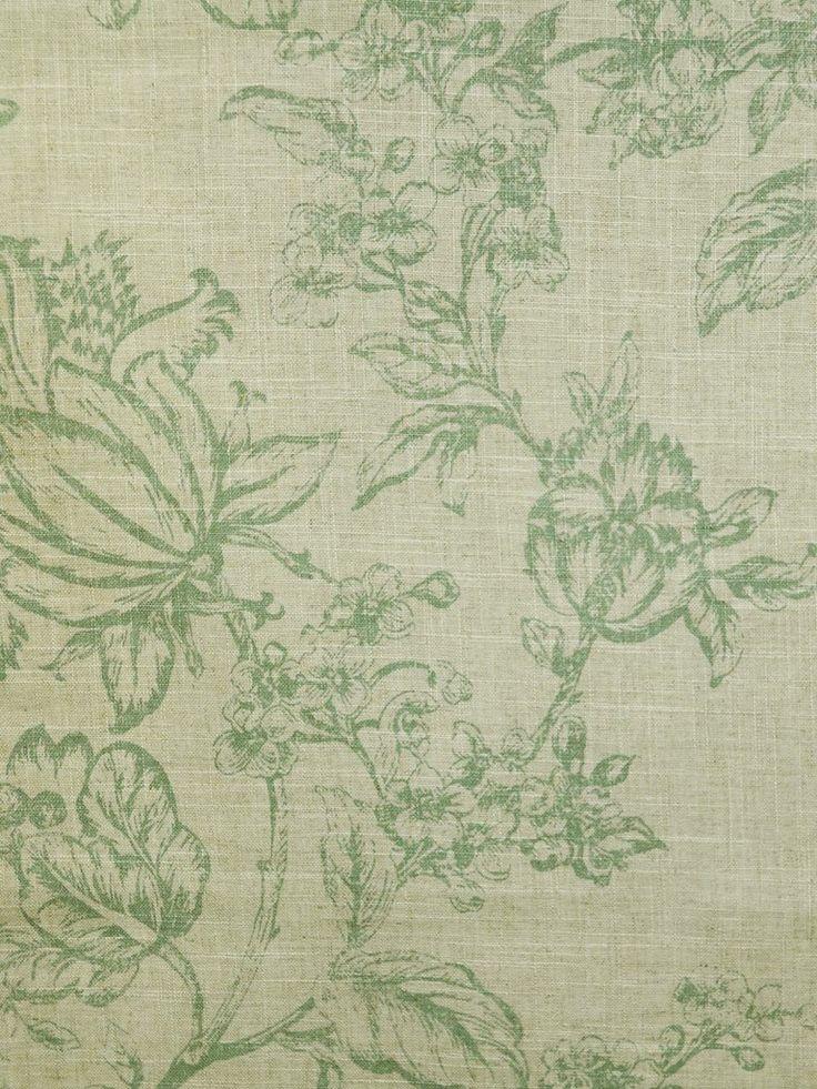 FRENCH COUNTRY HARBOR #green #jacobean #print-fabrics