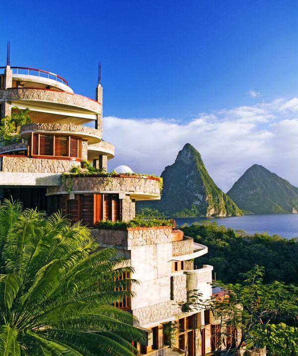 Отель Jade Mountain – роскошь в Карибском море
