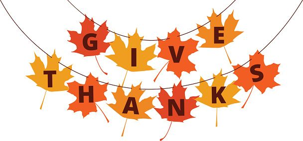 Happy Thanksgiving Clipart Free Black And White Banner Border