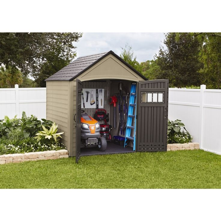 shop rubbermaid roughneck gable storage shed common 7ft x 7ft