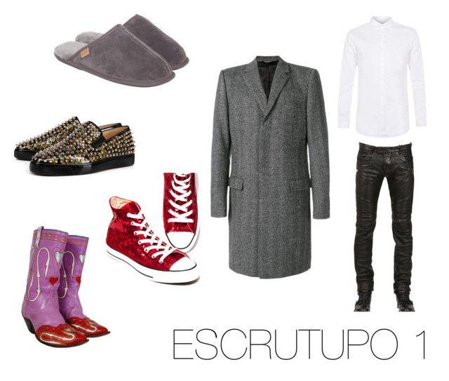"""ESCRUTUPO 1"" by fsh-style on Polyvore featuring Dolce&Gabbana, Christian Louboutin, Just Sheepskin, Topman, men's fashion y menswear"