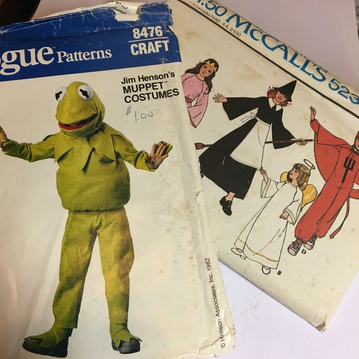 A personal favorite from my Etsy shop https://www.etsy.com/listing/533269492/costume-patterns-for-kids-kermit-the