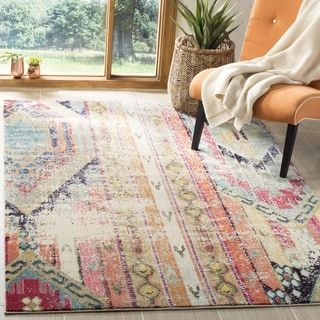 Shop for Safavieh Monaco Vintage Bohemian Multi-colored Distressed Rug (8' x 11'). Get free shipping at Overstock.com - Your Online Home Decor Outlet Store! Get 5% in rewards with Club O! - 17556335