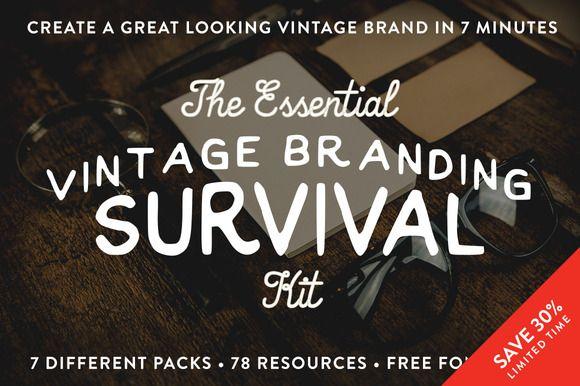 The Vintage Branding Kit by RetroSupply Co. on @creativemarket