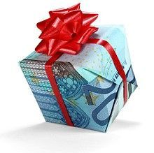 Kleines Päckchen aus einem geldschein gefaltet - Geldgeschenke basteln