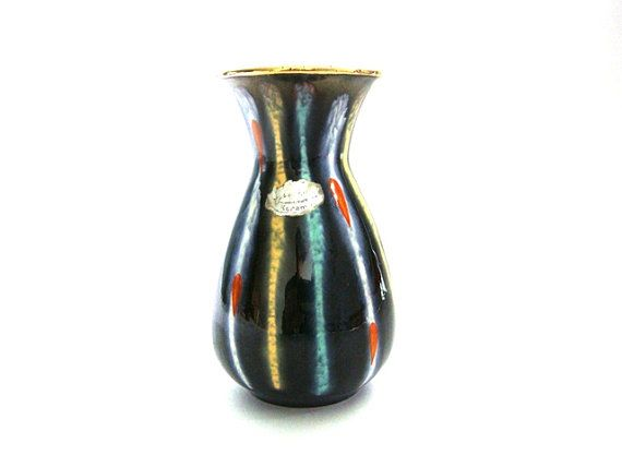Vintage Jasba ceramic vase West German Pottery by VintageBreda, €12.00