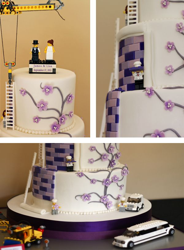 The Couture Cakery • Designer Cakes, Cupcakes, Dessert Table Designs in Central Pennsylvania: Couture Lego Wedding Cake