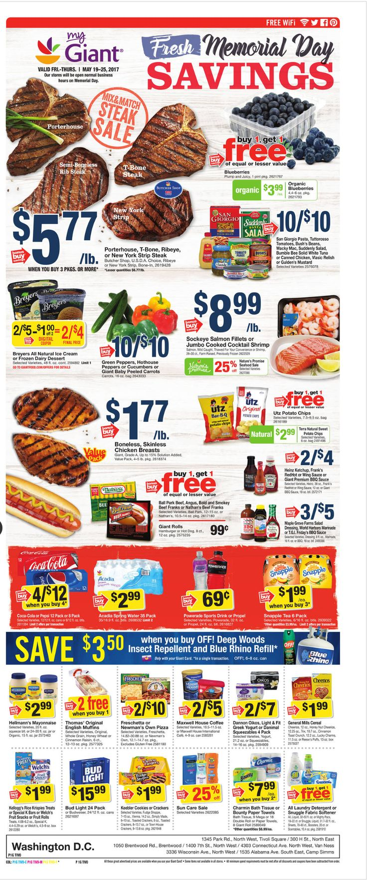 Giant Food Weekly Ad May 19 - 25, 2017 - http://www.olcatalog.com/grocery/giant-food-weekly-ad.html