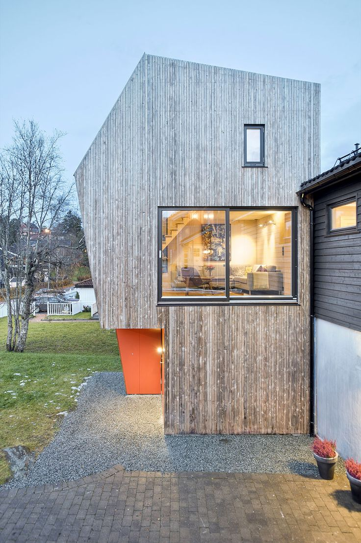 Arne Garborgsvei 18 House by TYIN Tegnestue 2 Asymmetric Modern House in Norway for a Family of Four