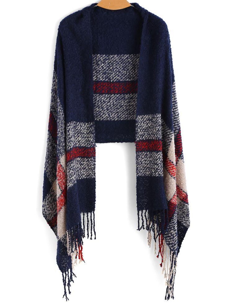 Shop Navy Tassel Vintage Scarve online. SheIn offers Navy Tassel Vintage Scarve & more to fit your fashionable needs.