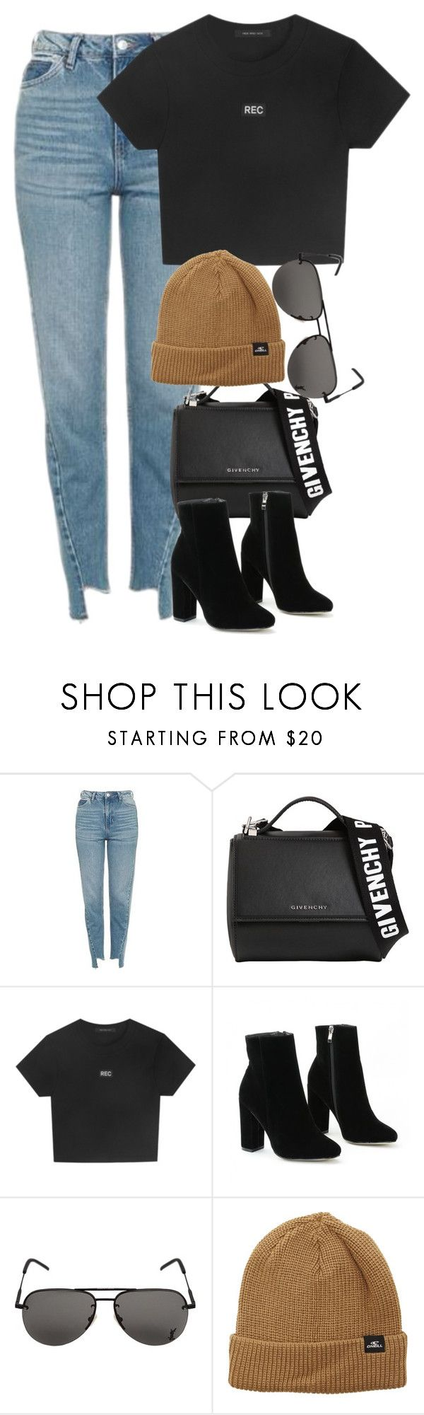 """""""Sem título #1407"""" by oh-its-anna ❤ liked on Polyvore featuring Topshop, Givenchy, Yves Saint Laurent and O'Neill"""