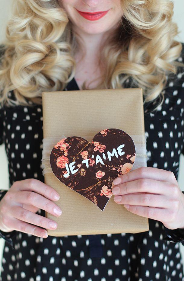 Free Printable: floral Valentines
