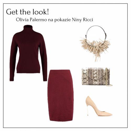 """Jesienią musimy otulić się ciepłym kolorem z charakterem. Ogromnie cieszę się na modę """"owocową"""" czy w kolorze wina. Szczególnie podoba mi się stylizacja #tonwton, którą pokazała nam Olivia Palermo: dzianinowa #spódnica #ołówkowa i nieco luźniejszy, kobiecy #golf - oba w odcieniu #burgundy - i do tego #szpilki w kolorze kremowym, #naszyjnik w stylu bib i #torebka #kopertówka o fakturze krokodylej skóry. Wyraziste #dodatki stanowią doskonałe wykończenie monochromatycznej stylizacji. #bordo…"""