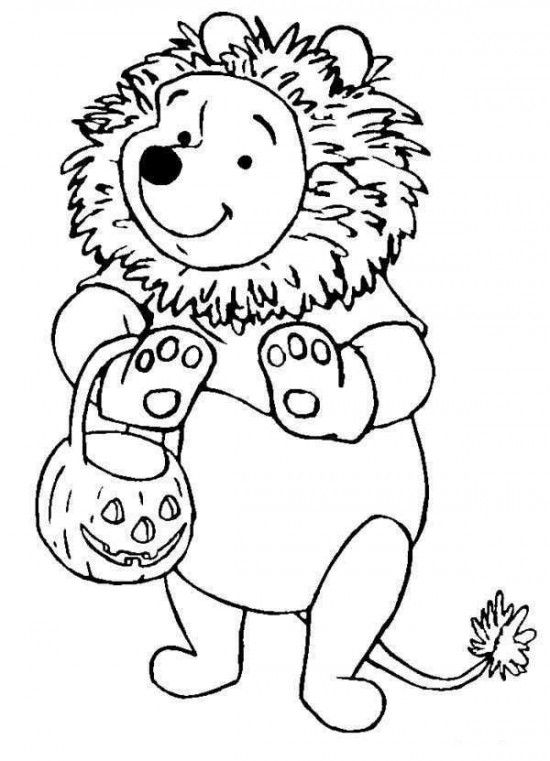Disney Halloween Pooh Coloring Sheet For Kids Picture 16 550x761