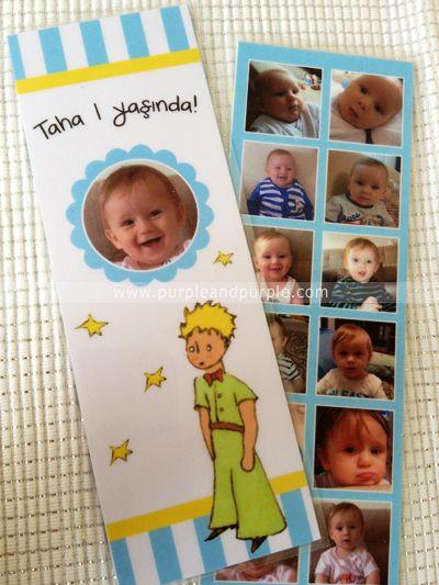 Küçük Prens | Doğum Günü Kitap Ayracı | 1 yaş doğum günü hediyelikleri | 1 yaş parti süsleri | Küçük Prens (Le Petit Prince) temalı Parti | Le Petit Prince Birthday | Book Themed Parties | Le Petit Prince Themed Party | Le Petit Prince Bookmark