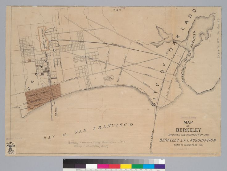 54 best historic berkeley images on pinterest bay area east bay 1874 map of berkeley and oakland note that there was already a rail line sciox Gallery