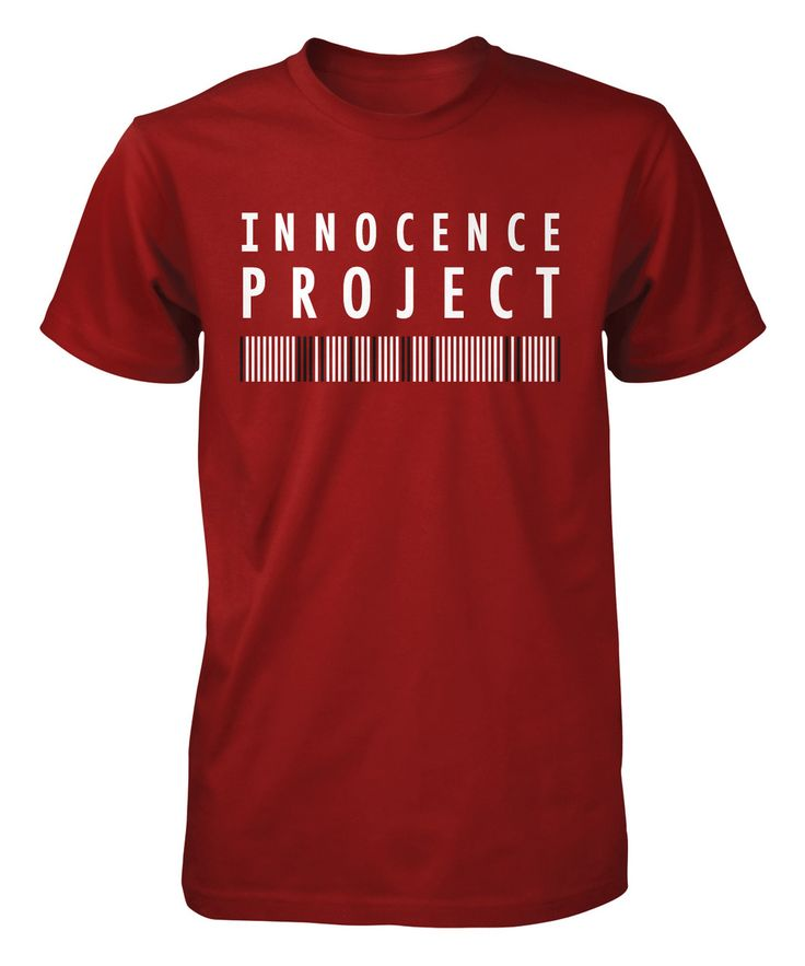 Official Innocence Project T-shirt Help free the innocent! Proceeds will support the Innocent Project's work to exonerate innocent people using DNA and reform the criminal justice system to prevent wrongful convictions.