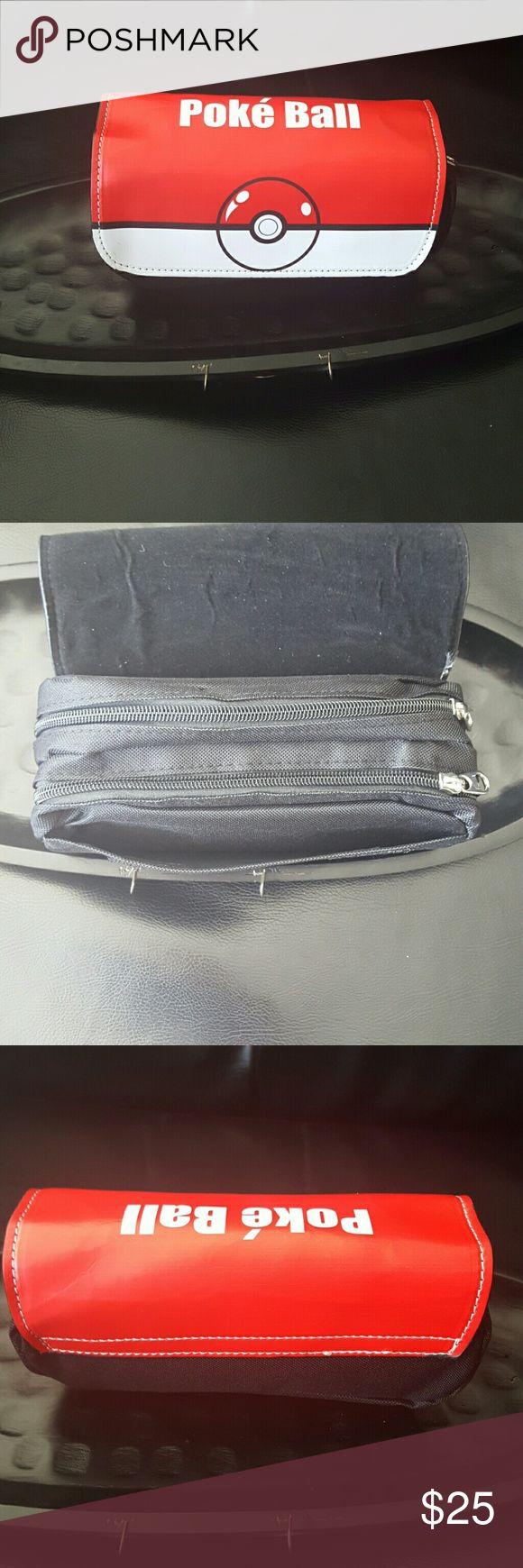 Pokemon bag case Pokemon 2 zipper pocket and velcro bag case Pokemon Bags Mini Bags