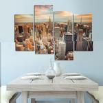 New York Wall Art, New York Canvas Art, New York sky Large Canvas Print, New York 4 Piece Canvas Print , New York Wall Poster