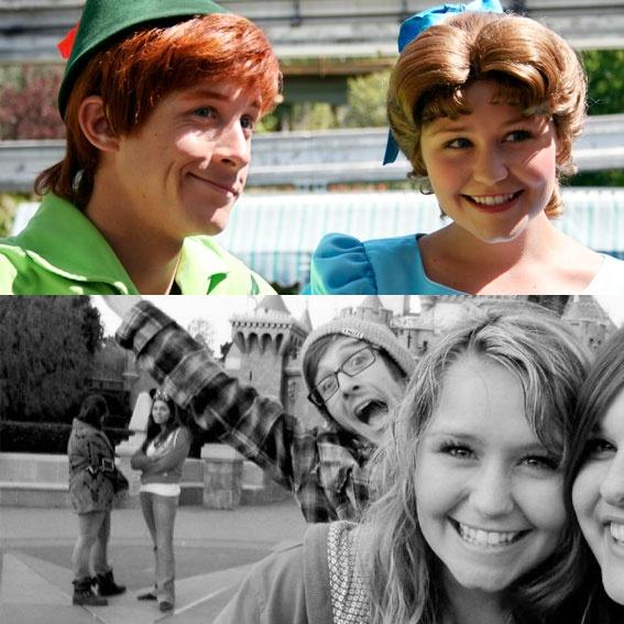 Andrew & Hali met as actors in Disneyland (Peter Pan & Wendy) and got married!! How awesome is that???