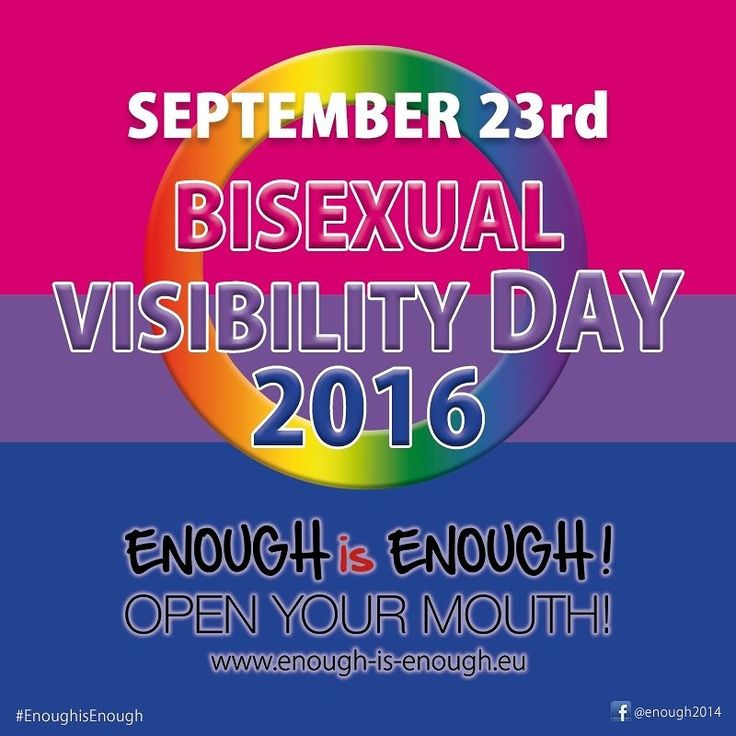 """#BisexualVisibilityDay  """"Celebrate Bisexuality Day is observed on September 23 by members of the bisexual community and their supporters."""" <3  #Enoughisenough #stopbiphobia #lgBti #community #pride #bisexual #bvd2016 #wealltogether #bi #visibility #wirallegemeinsam #lgBtiq #gemeinsam #stophomophobia #stoptransphobia"""