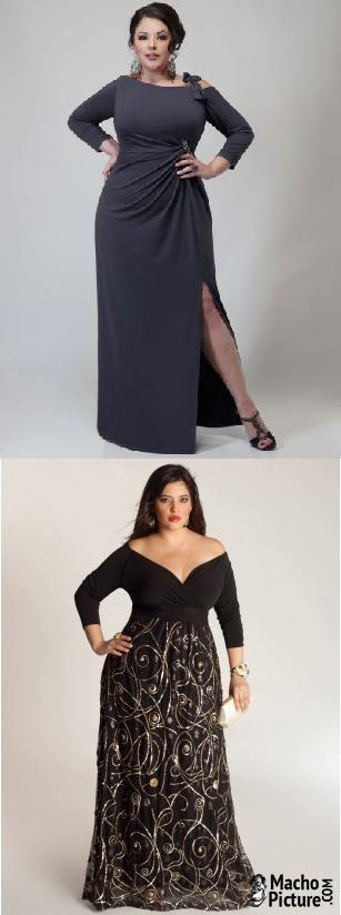 Plus size formal dresses - 3 PHOTO!