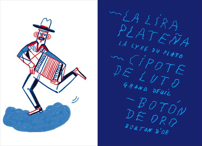 Spread by Johanna Benz from 'Pacho Rada, la légende!' – published by Éditions Magnani, France