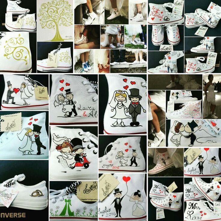 Matrimonio originale? Cambia scarpa! Converse personalizzate dipinte a mano!