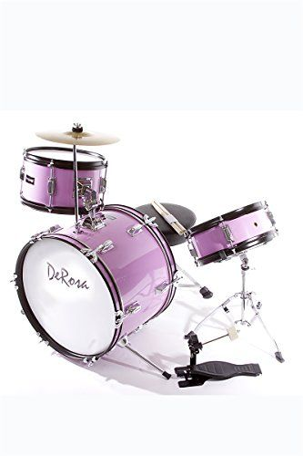 NEW DeRosa DRM316 3 Piece 16 Kids Junior Drum Set Pink * Click on the image for additional details.Note:It is affiliate link to Amazon.