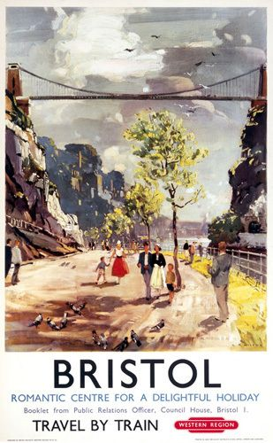 Bristol - Romantic Centre Art Print by National Railway Museum at King & McGaw