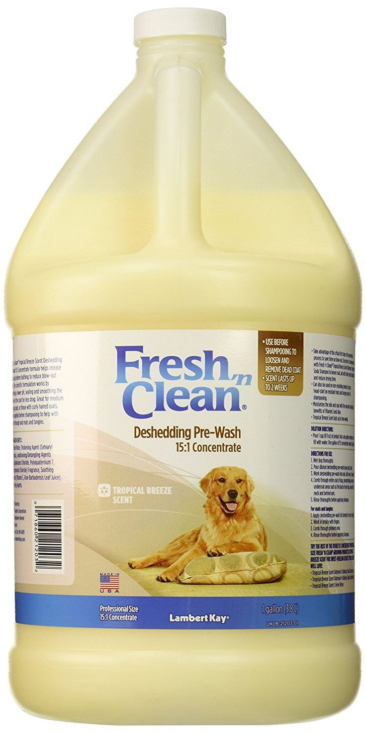 Fresh 'n Clean Deshedding Pre-Wash 15:1 Concentrate Shampoo, Tropical Breeze Scent *** Unbelievable dog item right here! : Dog supplies for health