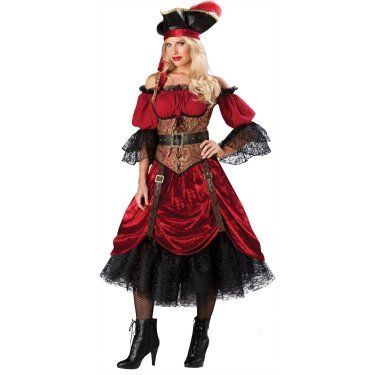 Pirate queen of the high seas adult costume