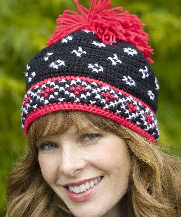 Crocheted Scandinavian Hat: free pattern