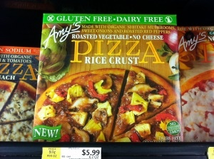 REVIEW: Amy's Kitchen - Cheeseless, roasted veggie, rice crust pizza