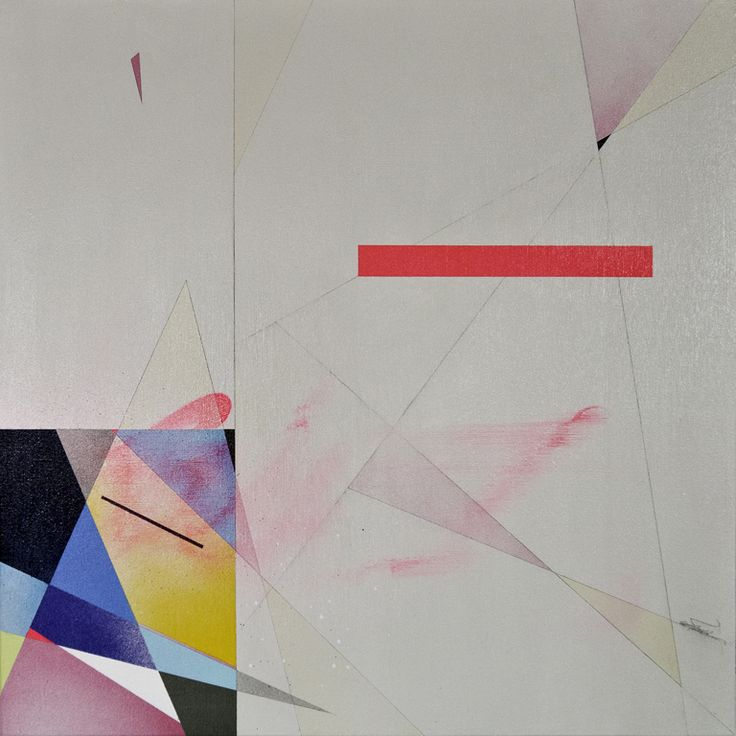 Overrate - 2014  Spray paint and graphite on canvas  60cm x 60cm