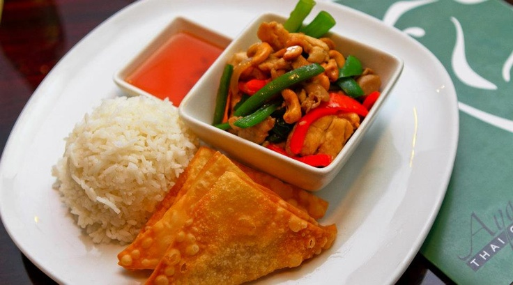 Lunch Combo #2: Jasmine Rice / Cashew Nut Chicken / Fried Wontons