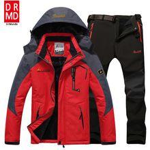 US $75.13 Ski Jacket suits Men Waterproof Fleece Snow Jacket Thermal Coat Outdoor Mountain Skiing Snowboard Jacket suits Plus Size Brand. Aliexpress product