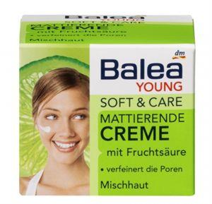 Balea Young Soft & Care Mattító Arckrém Gyümölcssavval