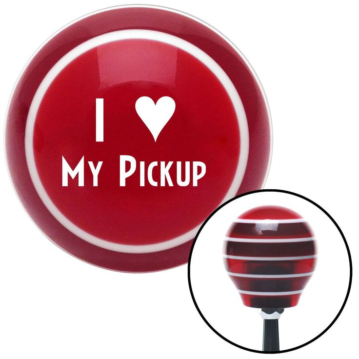 White I 3 MY PICKUP Red Stripe Shift Knob with M16 x 15 Insert - Give your interior the ultimate look. American Shifter's Elite(TM) series shift knobs are made from the highest quality components resulting in a superior feel on every shift. Each shift knob is designed and customized in the USA by skilled shift knob artisans who have a trained eye on every detail. American Shifters shift knobs offers an exclusive aluminum threaded insert designed to be screwed onto your shift arm. You should…