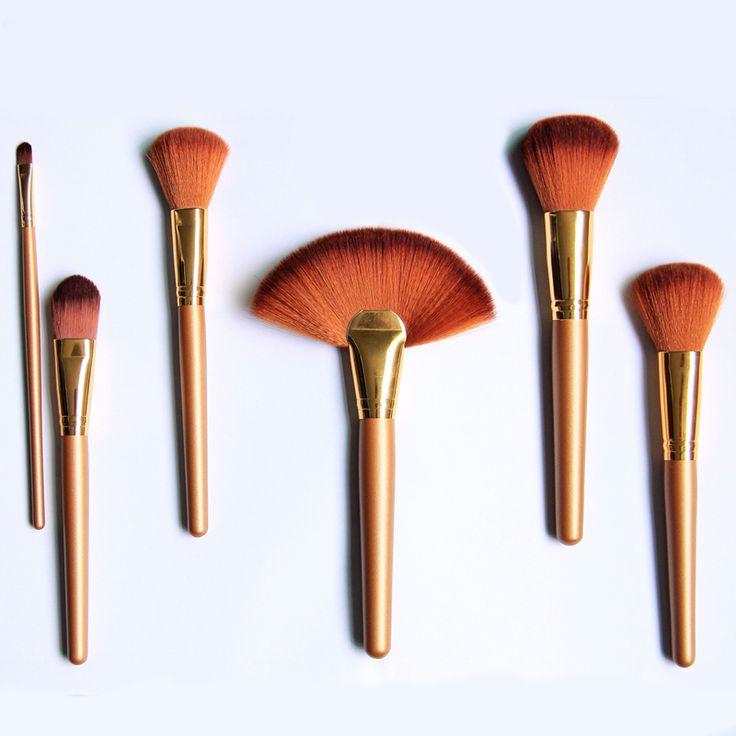 kinghairdye.com Hot Cosmetic Makeup Brush Set  with Case 21 pcs Make up Brush Set tools Make-up Toiletry Kit Gold / Purple avaliable, Can make your OEM brand logo.