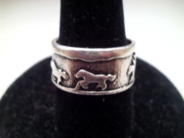 NATIVE AMERICAN RING SZ 5 1/2 STORYTELLER W/HORSES STER SILVER HANDCRAFTED 925 #HANDCRAFTED