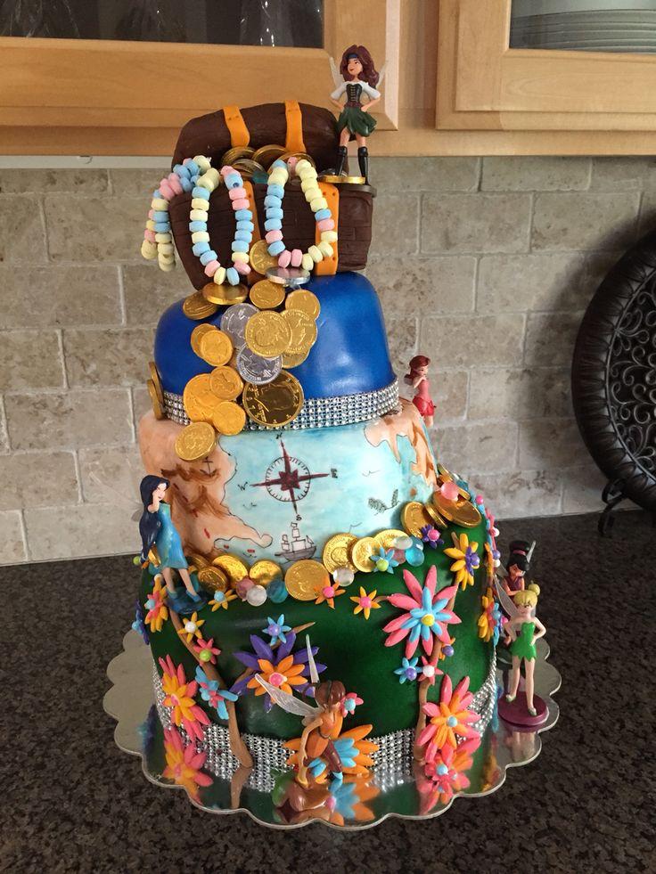 Topsy Turvy Zarina the Pirate Fairy Cake