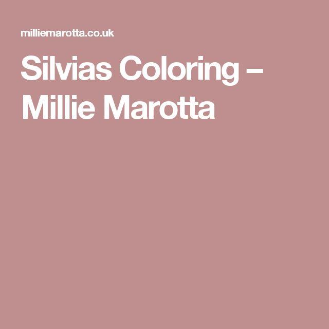 Silvias Coloring Millie Marotta