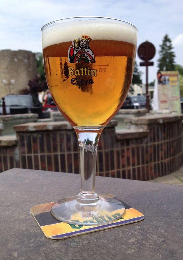 """[#JavaisSoif] 1er juin 2014. Historial. Bière luxembourgeoise Battin Gambrinus, restaurant """"Le Bistrot d'Antoine"""", Péronne (Somme)."""