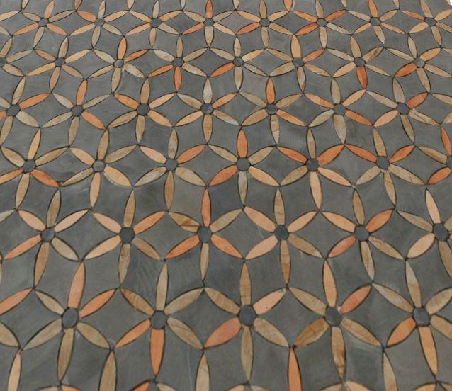 Tunisian Handmade Mosaic Charcoal & Ochre's Bespoke Tile and Stone