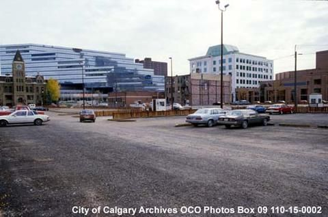 1986-7 Site of Olympic Plaza Before Construction, Calgary, Alberta - Alberta On Record