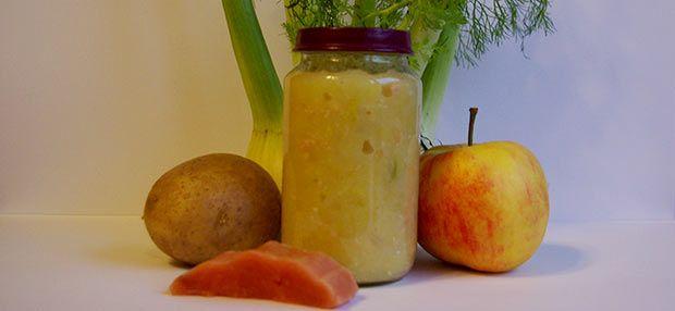 Babybrei - Fenchel-Kartoffel-Apfelbrei mit Lachs
