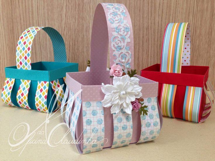 Oficina da Claudinha: Como fazer uma cesta de Páscoa