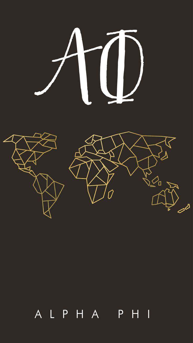 Geneologie | Greek Life | Sorority | Sisterhood | Freebie | Free Download | Desktop Wallpaper | Background | Alpha Phi | Map | World Map | Gold | Geometric | iPhone Wallpaper | Phone Background