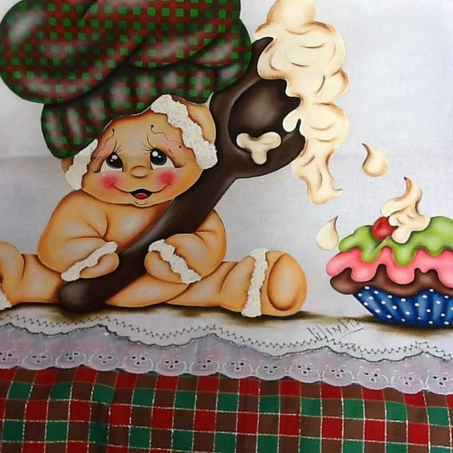 Pesquisa Google Pintura Tecido Ginger Bread Natal